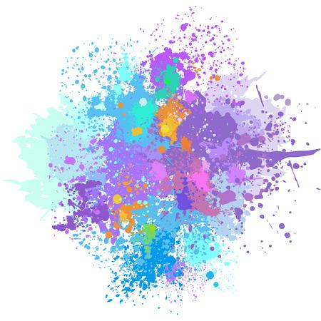 Kolor tła odpryskami farby Ilustracje wektorowe