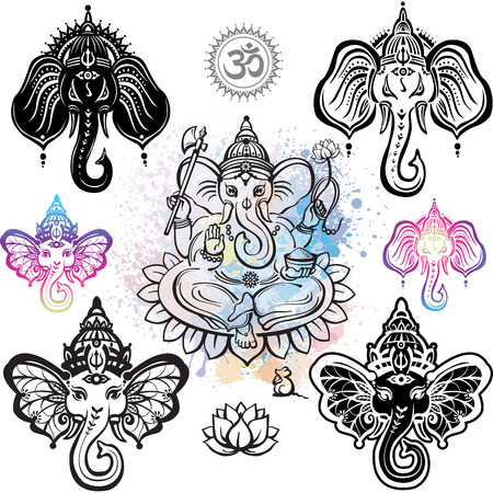 Hindu God Lord Ganesha Stock Vector - 55349819