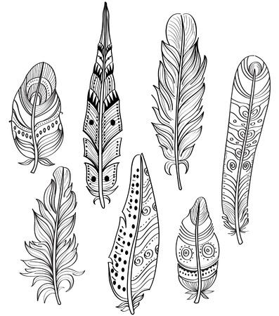 softly: Tribal Ethnic Feathers