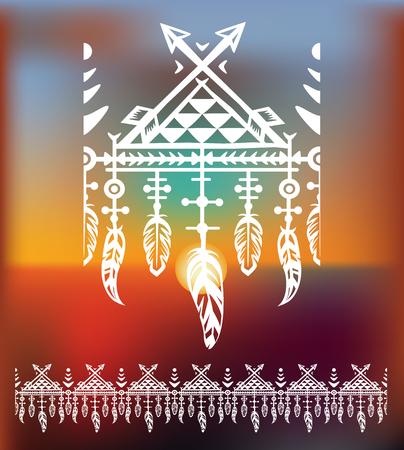 talismán: Patrón cepillos con plumas Vectores
