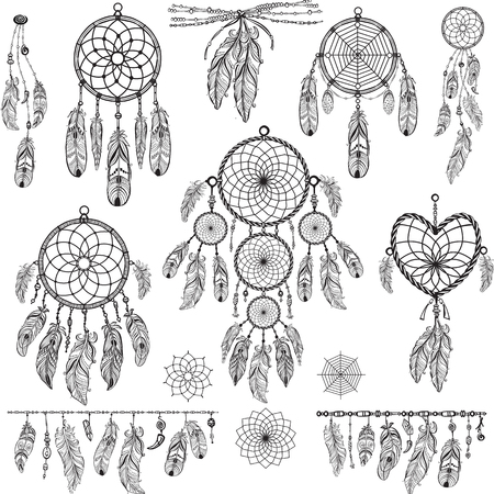 tribal: Set of Dream catchers