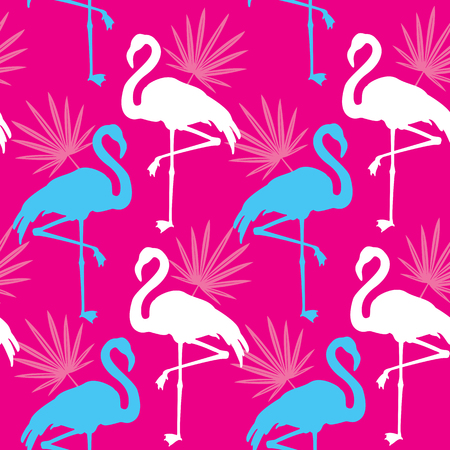 Nahtlose rosa Muster mit Flamingo
