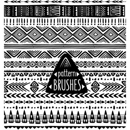 folks: Set of ethnic pattern brushes