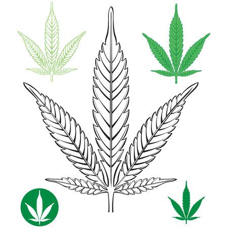 marihuana: Cannabis leaf outline
