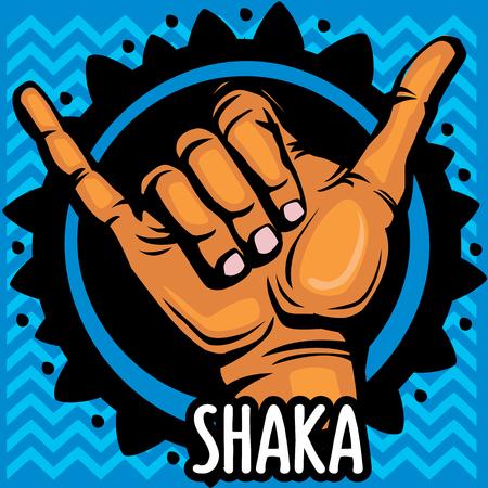 loose: Shaka hand sign Illustration