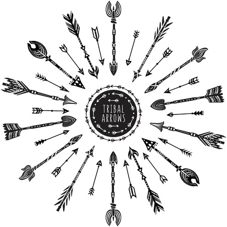 tribal pattern: Round pattern with tribal arrows