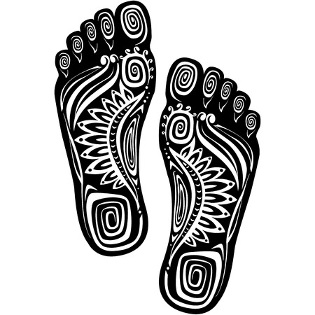 barefoot walking: Decorative feet