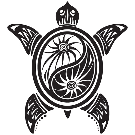 Decoratieve schildpad Stock Illustratie