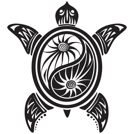 Decorative turtle Vetores