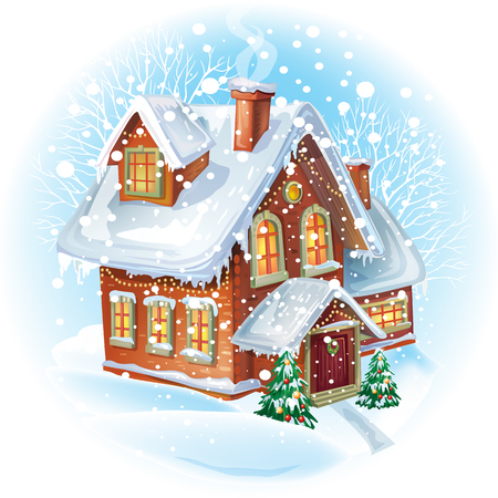casa de campo: Casa en invierno