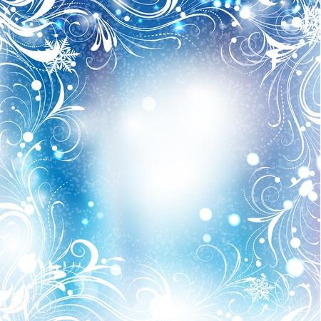 frosty: Background of frosty pattern Illustration