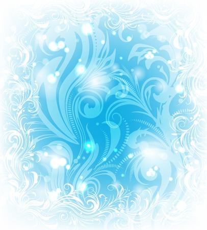Background of frosty pattern Illustration