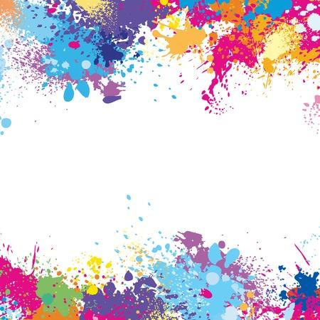 barvitý: Šablona rám z skvrny od barvy Ilustrace