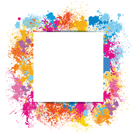 Frame template made of paint stains