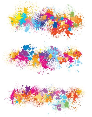 페인트 얼룩으로부터 디자인을위한 요소