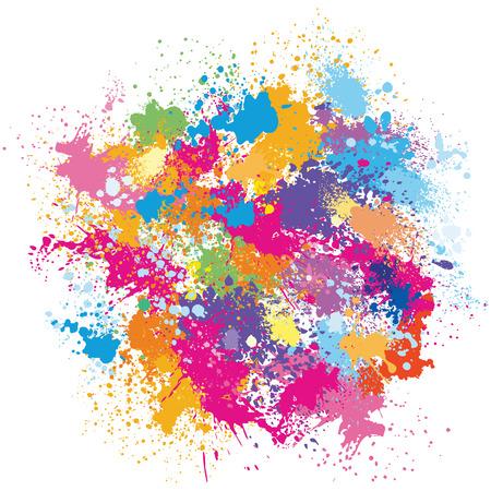 Farbe Hintergrund von Farbspritzern