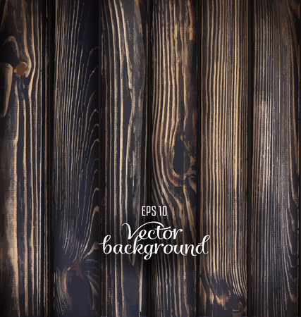 wood surface: Natural Vector wood plank background.