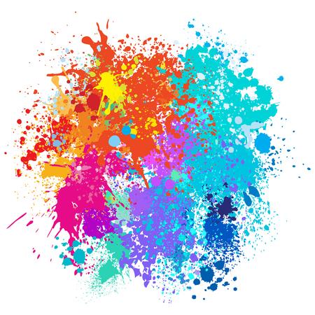 페인트의 색 배경은 밝아진