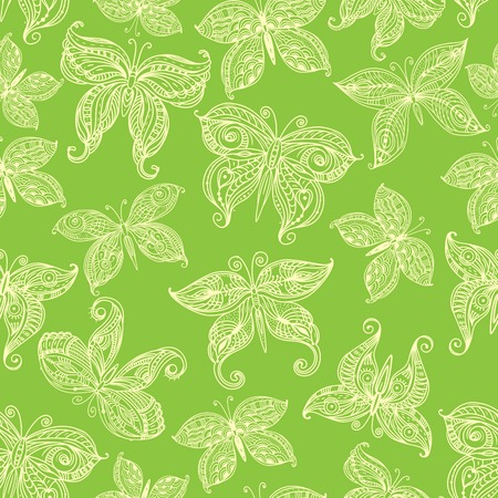 insect flies: Seamless pattern with ornate flies