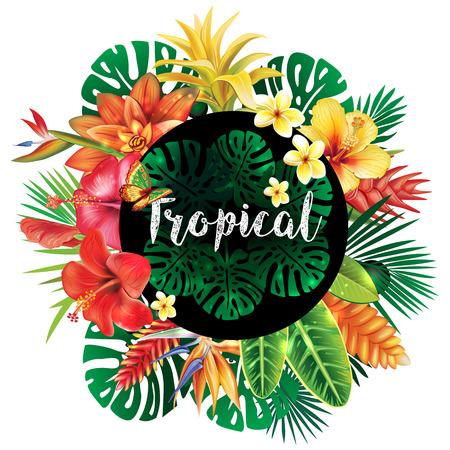 Banner van tropische planten