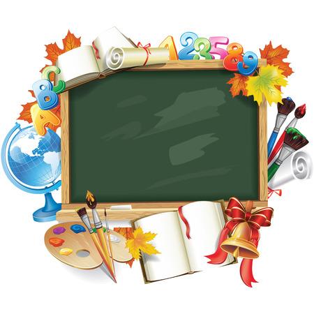 Modèle de conception pour la rentrée scolaire Banque d'images - 83864995