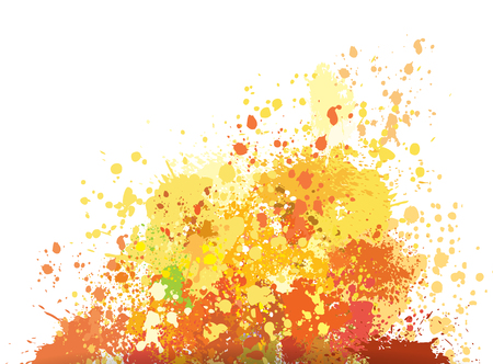 rainbow colors: Color background of paint splashes