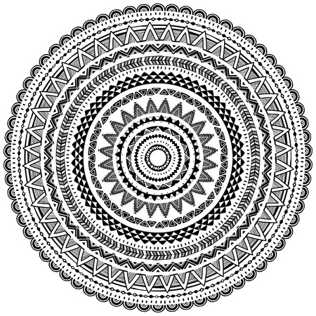 Round Ornament Pattern in Tribal ethnic styleDesign elements for frames, borders, backgrounds