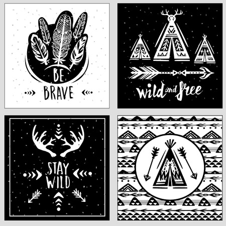 Collection of card templates on the theme of travel and adventure Banque d'images - 123392659