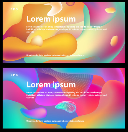 Background with multicolor fluid shapes composition Banque d'images - 123421663