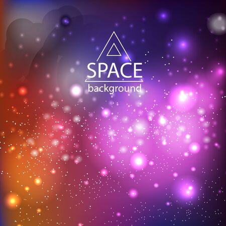 Fondo de galaxia espacial abstracto con luz cósmica y estrellas