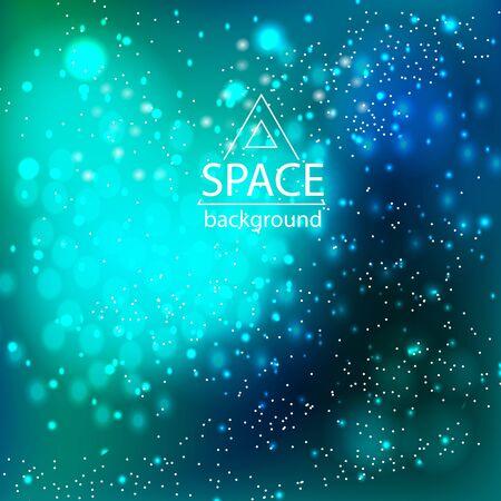Fondo astratto della galassia dello spazio con luce cosmica e stelle