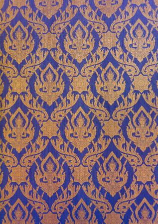 thai style: Art Thai style on temple wall