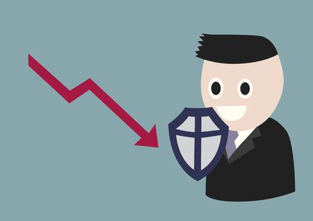 landslide: Business Protection, A businessman is under shield against downturn of sales