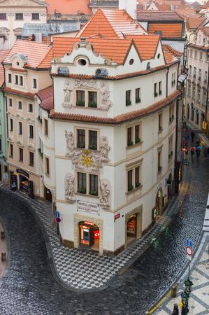 stare mesto: Prague - January : Small street in Prague old town, Czech Republic, January 18, 2015 Editorial