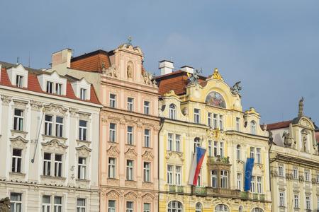 czech women: Old buildings in Prague, Czech republic Editorial