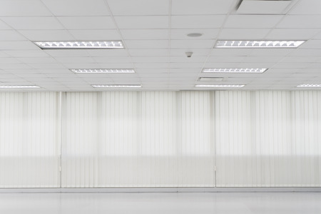 office space: White open space office interior