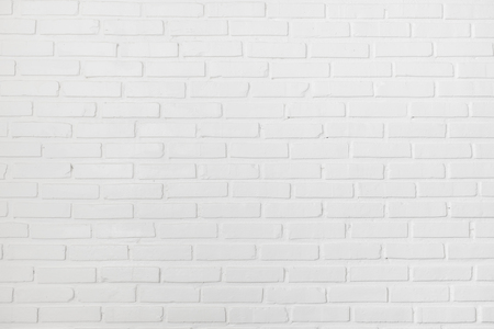 white wall texture: White clean clear brick wall texture Stock Photo