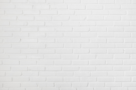 White clean clear brick wall texture Archivio Fotografico