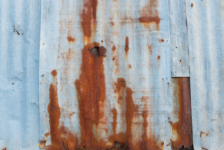 foundry: Grunge Rusty galvanized iron plate or zinc, texture background Stock Photo