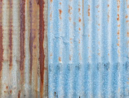 corrugated steel: Grunge Rusty galvanized iron plate or zinc, texture background Stock Photo