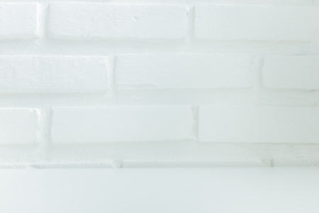 bricks background: White brick wall can be used for product shot