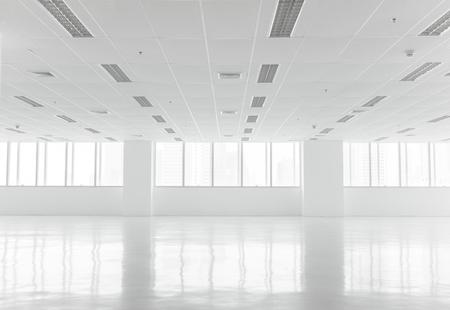 vaso vacio: Blanca abierta interior de la oficina de espacio se puede utilizar como fondo Foto de archivo