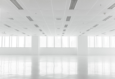 White open space office interior can be used as background