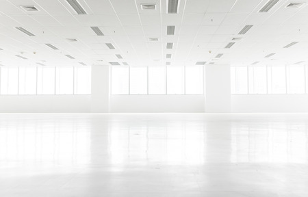 office space: White clean office space