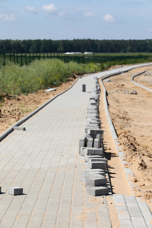 Construction of pavement and road with concrete brick