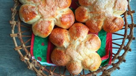 ruddy, freshly baked rolls