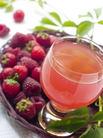 Refreshing summer drink from fresh berries