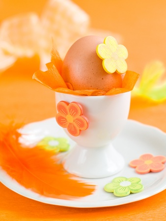 egg in eggcup decorated for eastern Stock Photo - 8532346