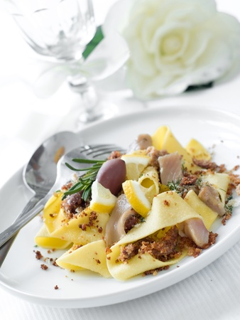Pasta with tuna and lemon for dinner Stock Photo - 8807521
