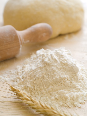 wheat flour: Basic ingredients for baking.  All the ingredients and utensils essential for baking.